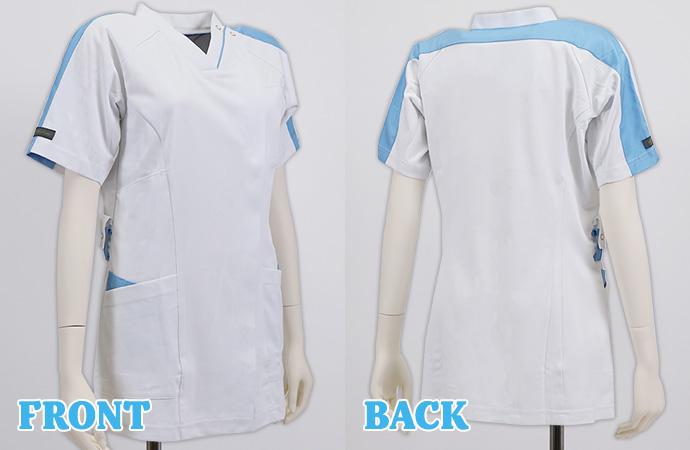 ホワイト×アシメントリーカラーラインの洗礼されたデザイン