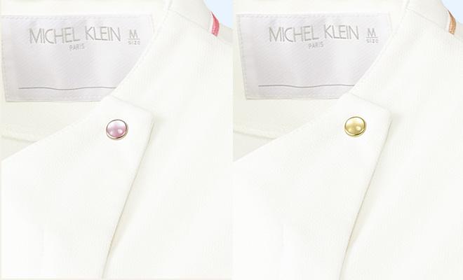 ミッシェルクランレディスジャケット半袖[チトセ製品] MK-0041のボタン
